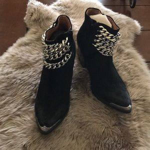 Jeffrey Campbell chain booties